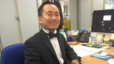 Friends of Geoff Ho say he has been located in a hospital, where he is being treated for injuries sustained in the London terror attacks.