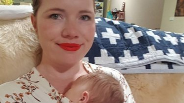 Clementine Ford with her baby son.