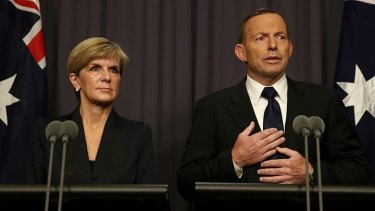 Foreign Affairs Minister Julie Bishop and Prime Minister Tony Abbott address the media after the executions.