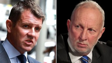Mixed stats: NSW Premier Mike Baird, left, and the director of the NSW Bureau of Crime Statistics and Research Don Weatherburn.