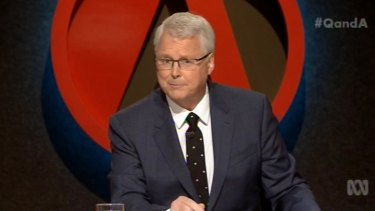 """""""I don't think the program should or ought to be involved in public controversy"""" ... Tony Jones, host of ABC's outspoken panel show <i>Q&A</i>."""