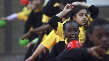 Sudanese refugees at St Albans Primary School take part in an after school sport program.