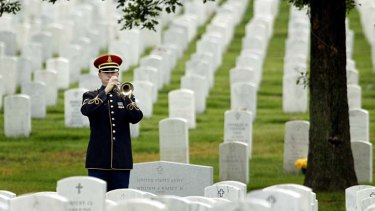 A model for Canberra: a funeral in Arlington National Cemetery, outside Washington DC.