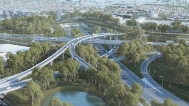 The size of the WestConnex interchange at St Peters has angered many residents.