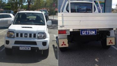 Offensive personalised  plates can sometimes be tricky to spot, especially if the word isn't in English.