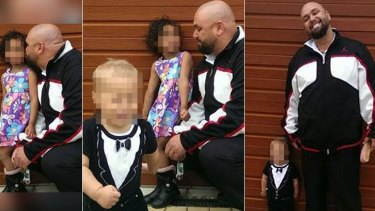 Jason Headland with his children.