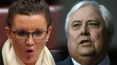 Jacqui Lambie and Clive Palmer.
