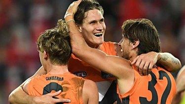 The ecstasy: Rory Lobb celebrates a goal last season.