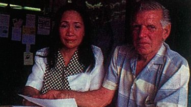 """""""Filipina women are more loving,"""": Roy Fittler, with wife Gelna."""