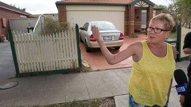 Jake Bilardi's former neighbour Shirley Evans speaks to the media on Thursday afternoon.