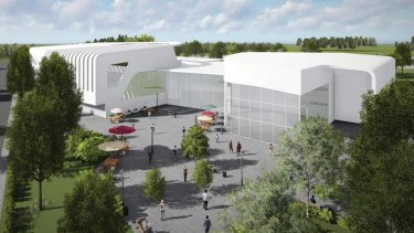 Big plans: an artist's impression of the proposed Wests Tigers Centre of Excellence.