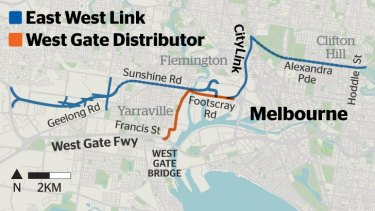 Where the West Gate distributor will run.