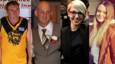 Kym Brett Curnow, Thomas Leslie Butcher, Anna Sashohova Winther and Julia Kohrs-Lichte were killed in the Esperance fires in December 2015.