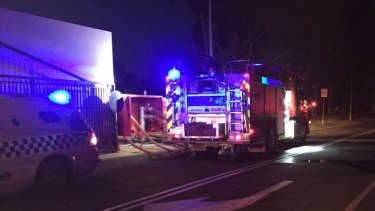 A 'massive fire' engulfed a building at the Wesley College campus in Glen Waverley.
