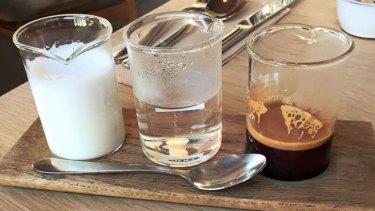 Jamila Rizvi's deconstructed coffee from The Kitchen, Weylandts in Abbotsford.