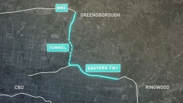 The route of North East Link.