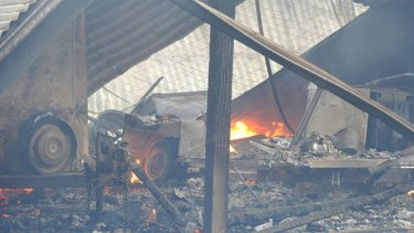 A property destroyed by fire at Scotsburn