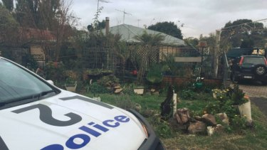 Police at the Waterford Park house, near Kilmore.