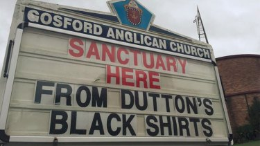 Gosford Anglican Church in NSW is among those offering sanctuary for asylum seekers.