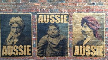 Peter Drew's Aussie project, using photographs from original applications for exemptions to the White Australia Policy.