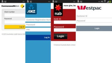 Bogus login screens are targeting Android-wielding customers of Australia's largest banks