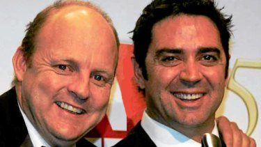 Billy Brownless (left) and Garry Lyon in happier times.