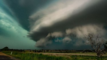 Daniel Lutzke of ISW Team took this photo of Wednesday's storm, as seen from the Cunningham Highway.