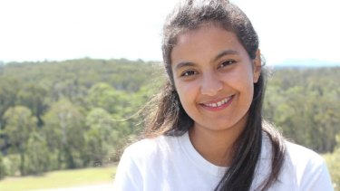Samia Lila was serving at the restaurant when one of her customers alerted her to the goanna.