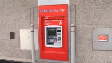 The man was stuck in the ATM for several hours.