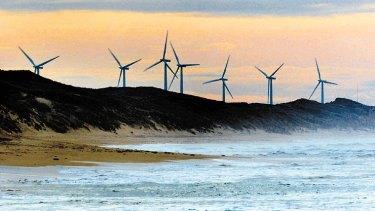 Pacific Hydro wind farm at Codrington, south-west Victoria.