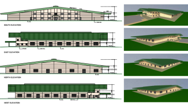 Architect's plans of a proposed place of worship for the spiritual group Radha Soami Satsang Beas (RSSB) in Carrum Downs