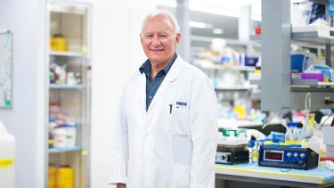Professor Len Harrison in the laboratory at the Walter and Eliza Hall Institute.