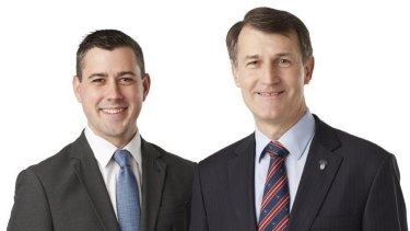 Former Tennyson candidate Ashley Higgins with Lord Mayor Graham Quirk.