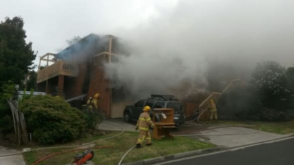 Firefighter hurt as fire guts Geelong home