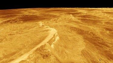 Venus as seen by Magellan.