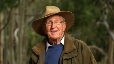 Malcolm Fraser at home in Merricks in 2014. Photo: Simon Schluter.