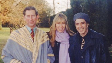 Lyndall Hobbs with Prince Charles and Al Pacino.