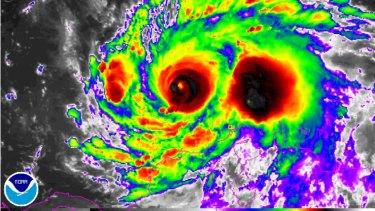 Hurricane Matthew is nearing the coastline.