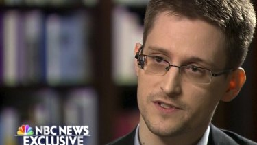 US whistleblower Edward Snowden. Julian Assange claimed to be assisting him from the Ecuador embassy in London