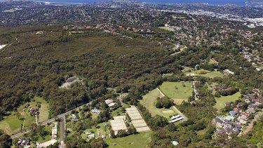 It's pretty green down there. An aerial view with Frenchs Forest to the right, where people value a sense of personal and neighbourhood safety.