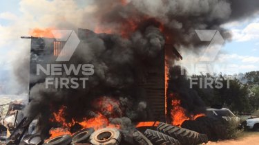 A house has been destroyed by fire at Highgrove, near Toowoomba.
