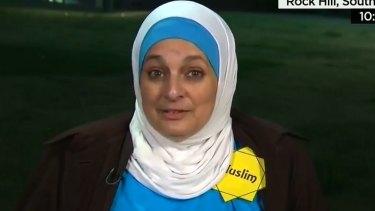 Rose Hamid, protester, interviewed on CNN.