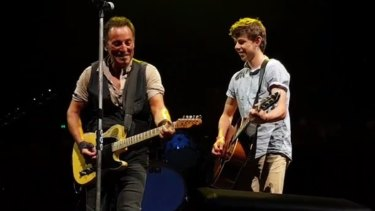 Nathan Testa played alongside Bruce Springsteen last Thursday night.