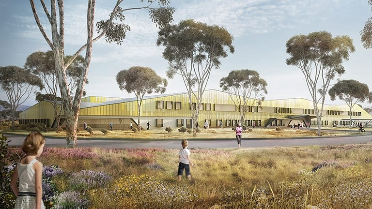 An artist's impression of the new University of Canberra Public Hospital. Acting Chief Minister Simon Corbell says the project is critically important.