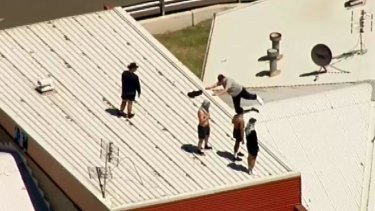 Inmates riot at Malmsbury youth detention centre in January.