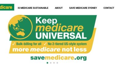 Mr Rogers' 'Save Medicare' website.