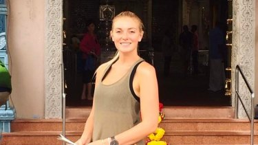 Ella Knights had been on a trip to India and Indonesia.