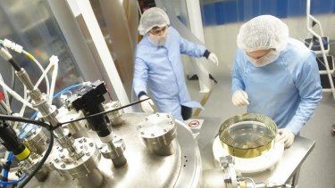 CSIRO scientists working on optics – another sector of public-good research that has been hit by large cuts.