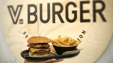 V Burger is flipping out free burgers from 11.30am at its new Kings Square store.