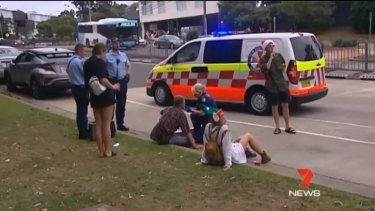 Some party-goers were pepper sprayed by police, and were then treated by paramedics.